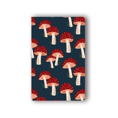 Navy Mushrooms Notebook