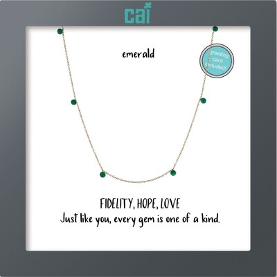 Gold Emerald Necklace 25751
