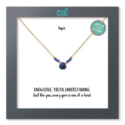 Gold Lapis Necklace 25767