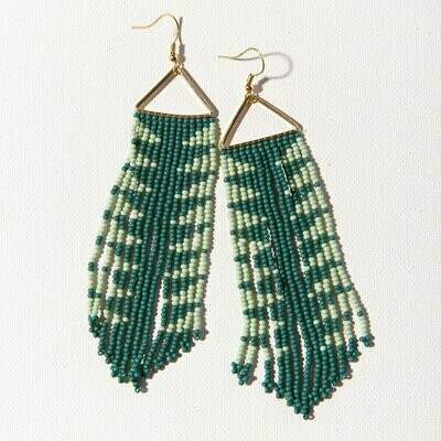 Teal With Mint Seed Bead Earrings SBER2201T