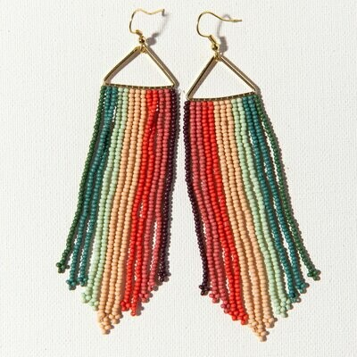 Pink Port Mint Seed Bead Earrings SBER2201PT