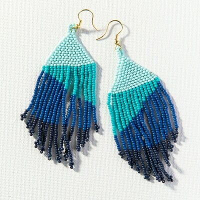 Blue Ombre Fringe Earrings SBER1901LA