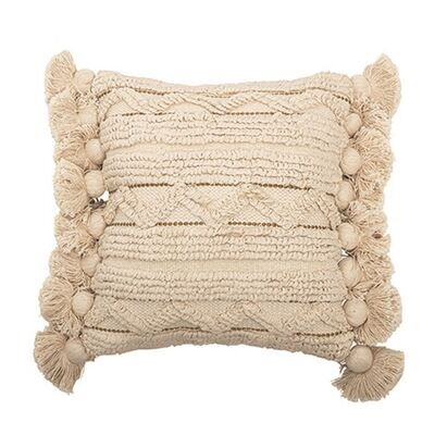 Cotton Looped Striped Pillow Ah0632