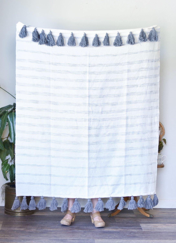 cotton woven striped throw blanket da9900