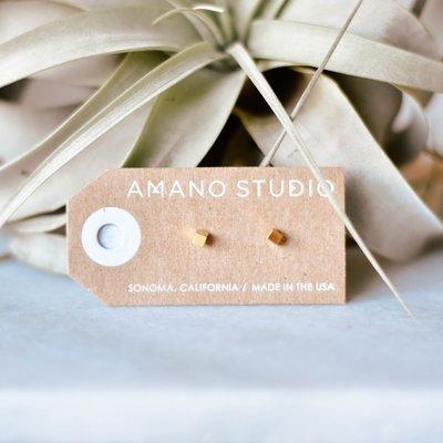 Tiny Cube Earrings 17gc3