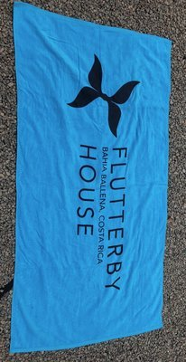 Flutterby Towel (Turquoise)