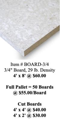 Hemp Board 3/4