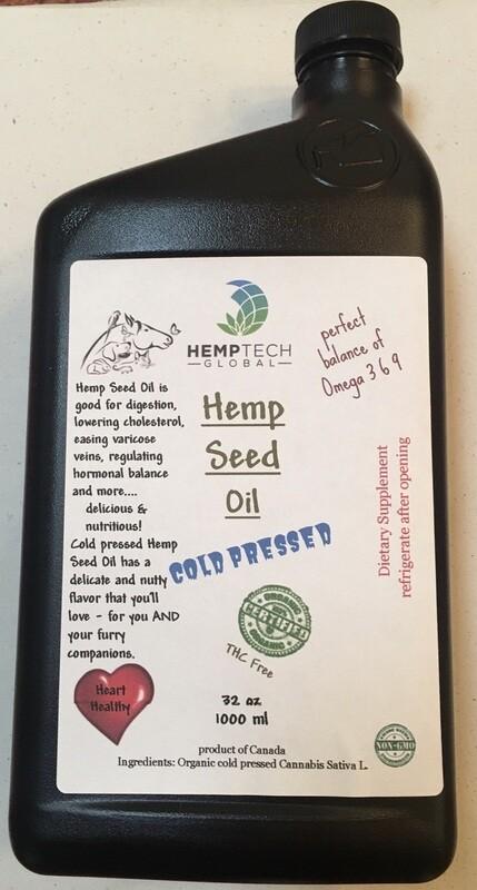 Raw Hemp Seed Oil 4 Pets