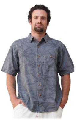 Hemp Leaf Camp Shirt