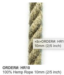 Hemp Rope 10mm