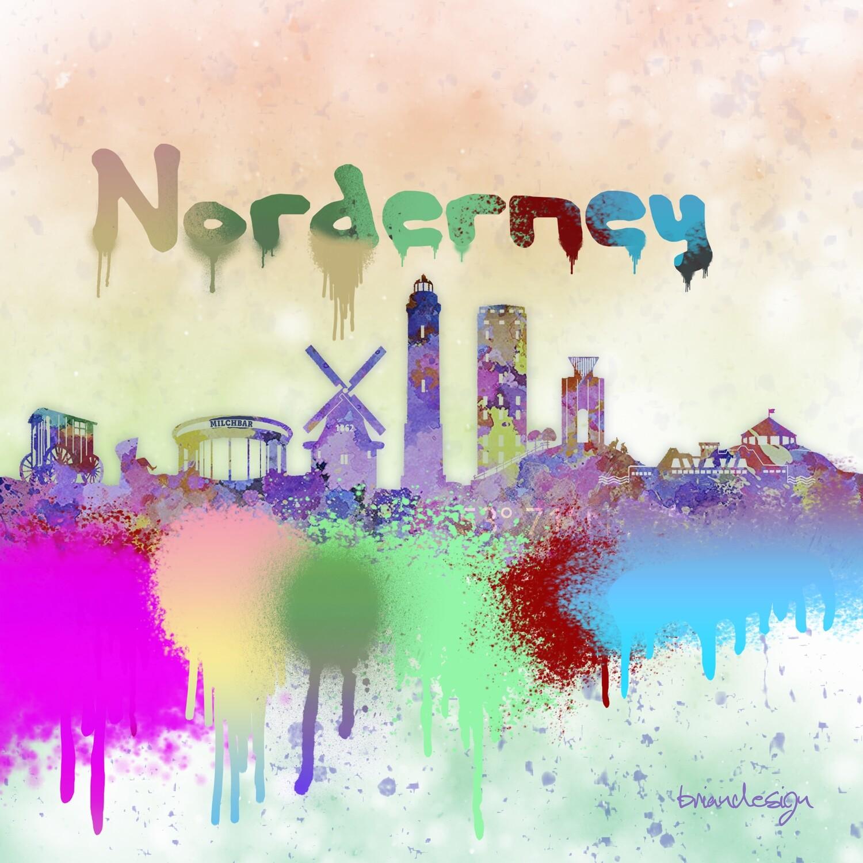 "Norderney Skyline ""Watercolor"""