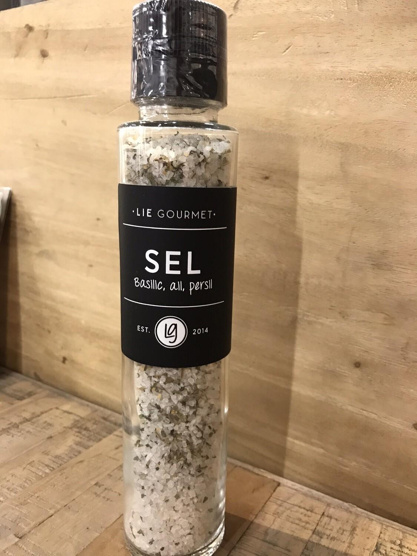 Lie Gourmet salt basil garlic parsley