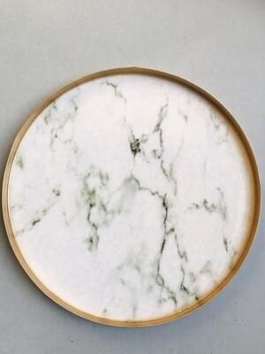 Decoratie plateau marmer