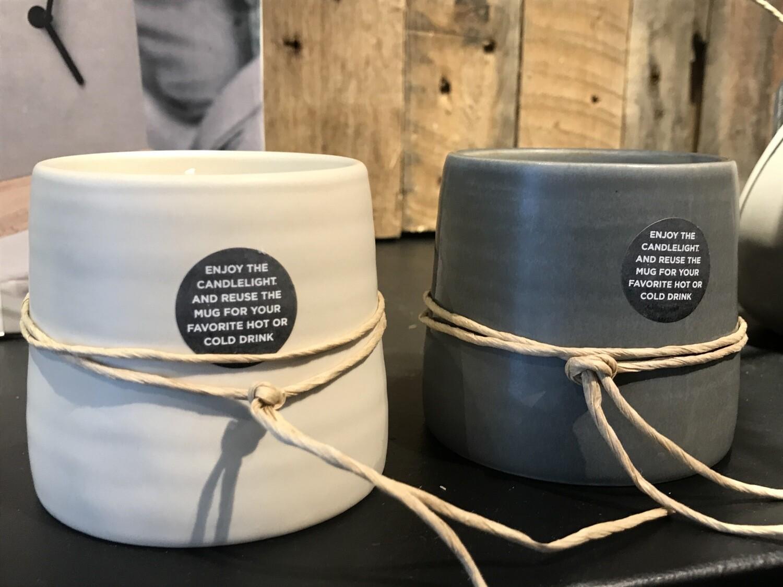 Leef mug candle Mia grey