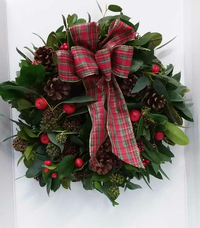 Artificial door wreath 30cm