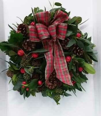 Fresh door wreath 40cm