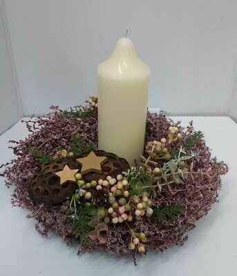 Everlasting table centerpiece 25cm