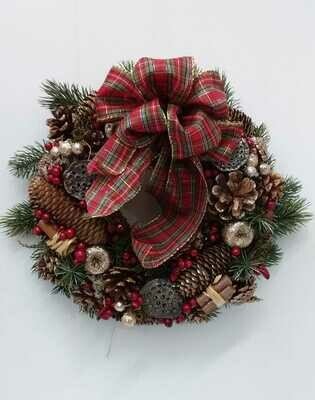 Artificial door wreath 30cm