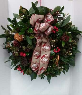 Fresh door wreath 50cm