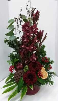Hall arrangement including cymbidium orchid from 50euro