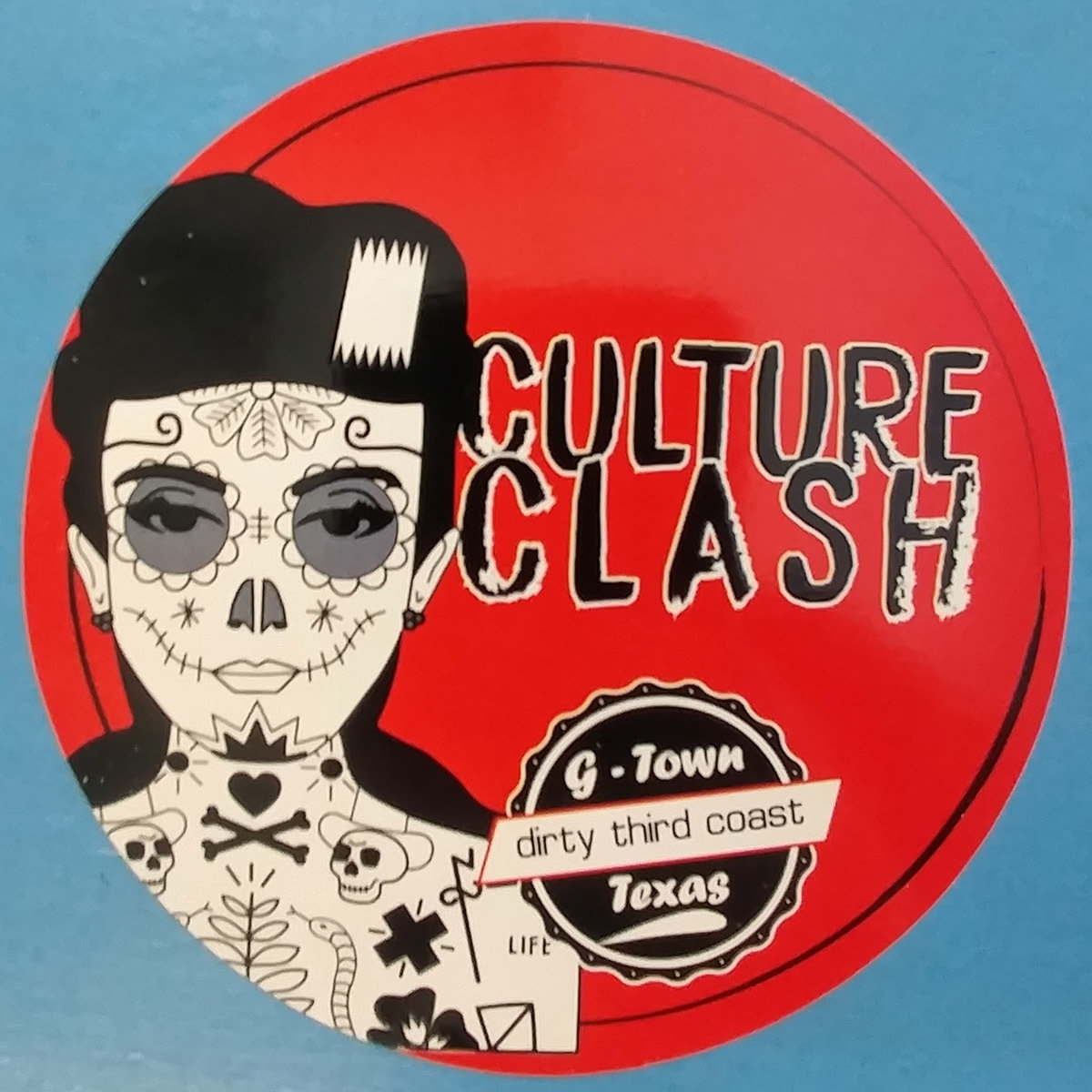 Culture Clash Sticker