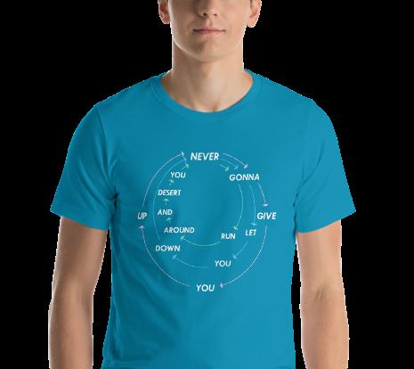 Rick Roll Unisex T-Shirt (Electric Blue)