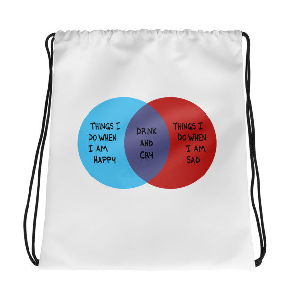 Drink and Cry Drawstring