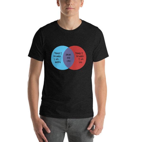 Drink and Cry Unisex T-Shirt (Dark Grey Heather)