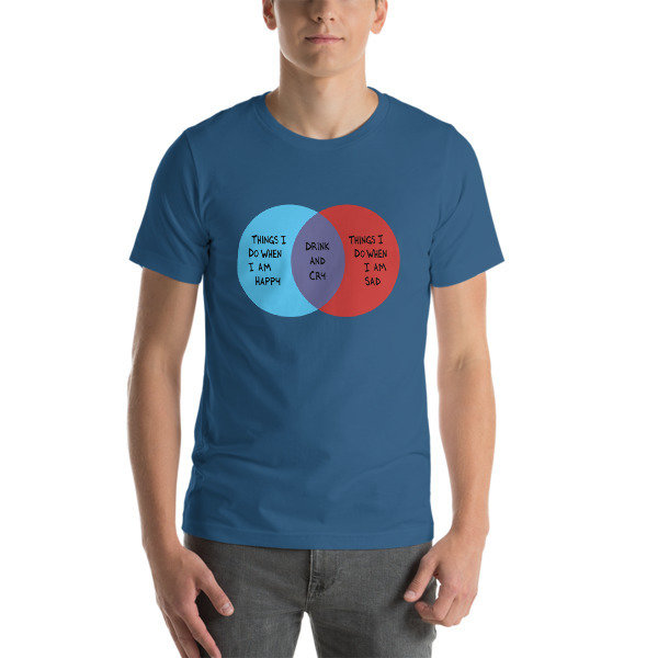 Drink and Cry Unisex T-Shirt (Steel Blue)