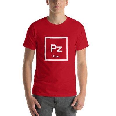 Pizza Element (Pz) Unisex T-Shirt (Red)