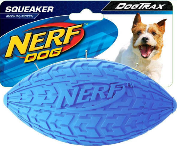Nerf Dog medium tire squeak football