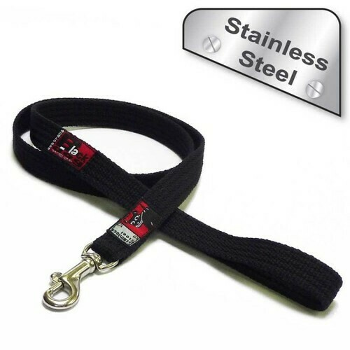 Black Dog Plain Lead 1m Stainless Steel