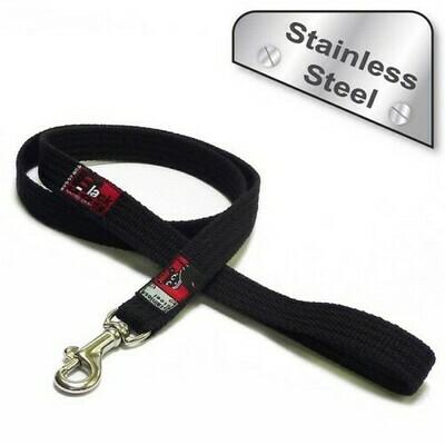 Black Dog Plain Lead 1m Stainless Steel