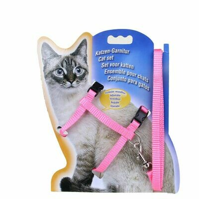 Adjustable  Nylon Cat Harness, Leash