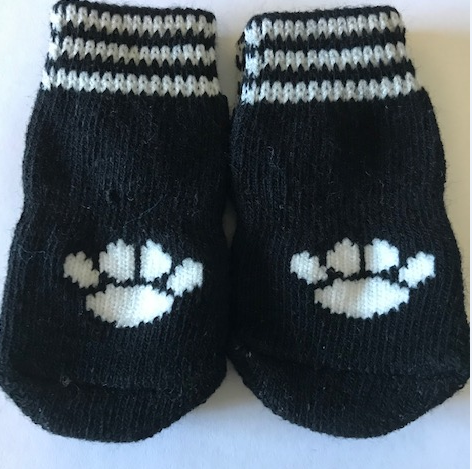 Indoor Dog Socks black