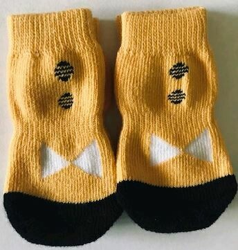 Indoor Dock Socks - Yellow with Bow Tie