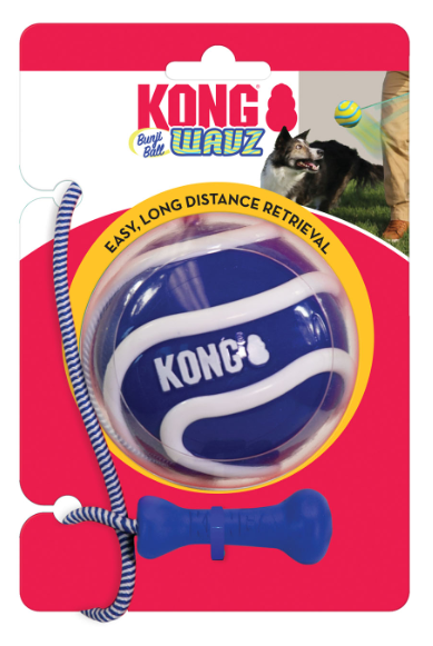 KONG Wavz Bunji Ball Toy For Dogs