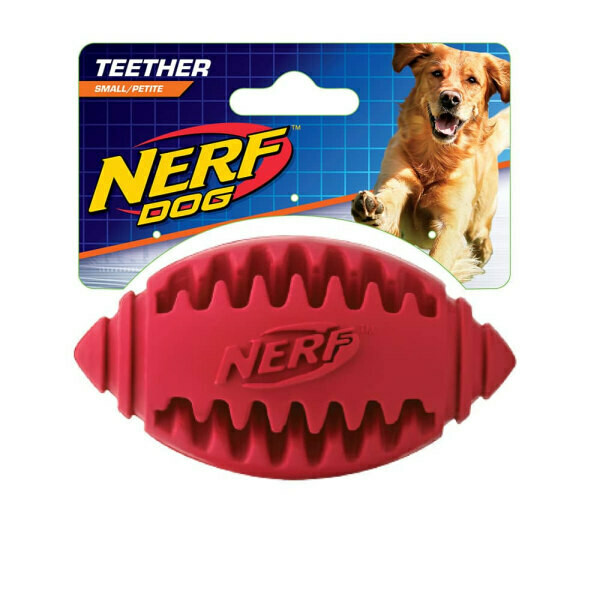 NERF Dog Football Teether Red