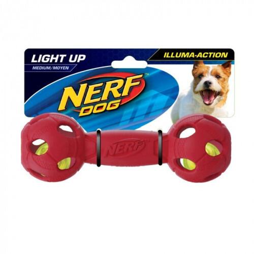Nerf Dog Light Up LED Barbell Dog Toy