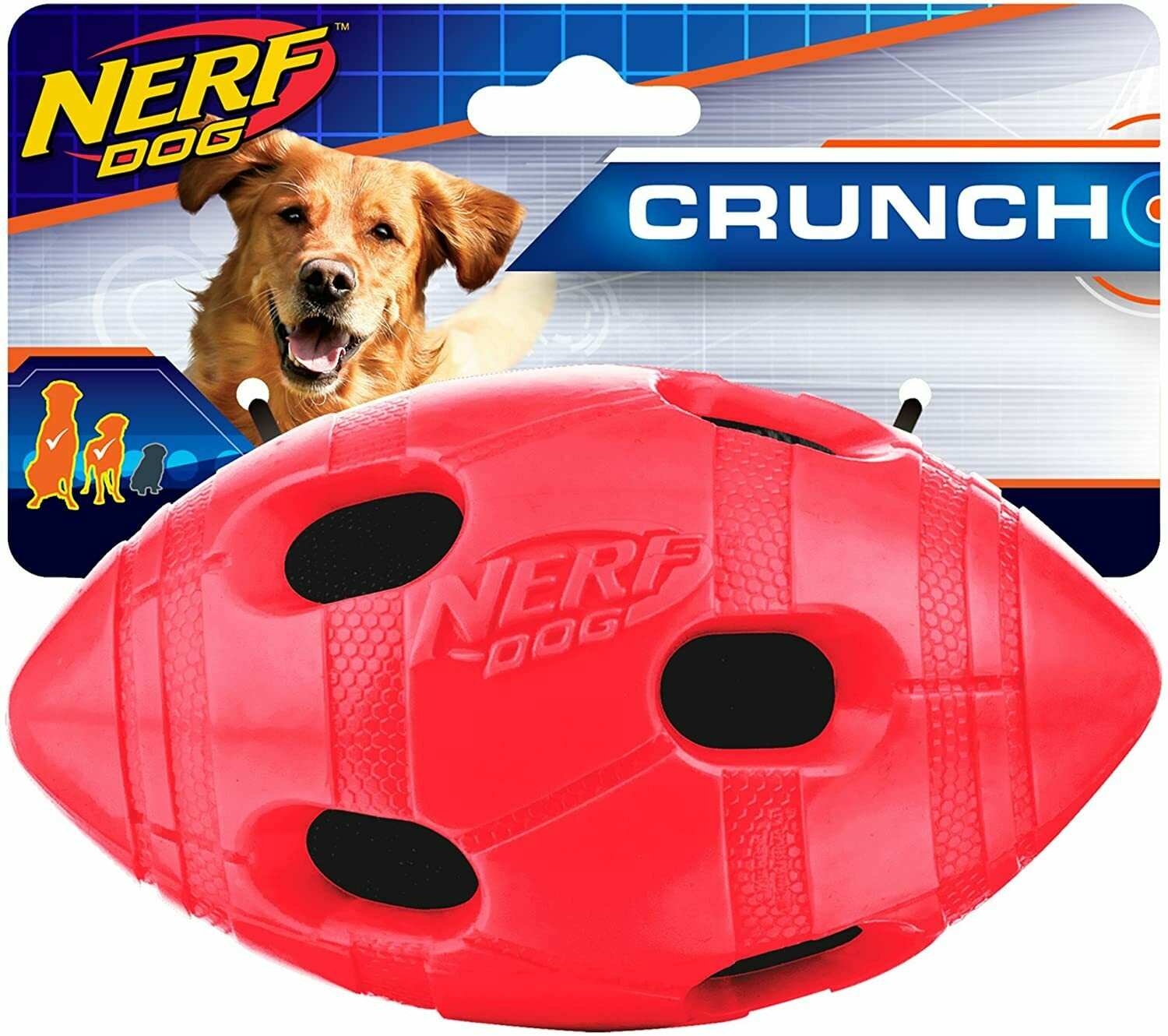 NERF Dog Small Crunchable Football Toy