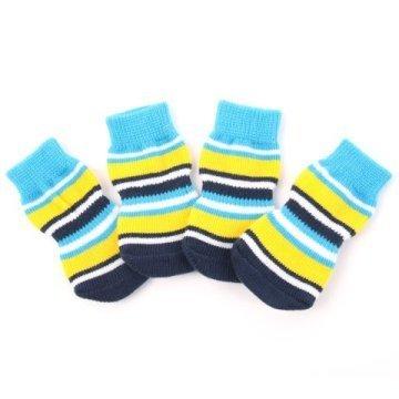 Indoor dog socks - Blue & Yellow