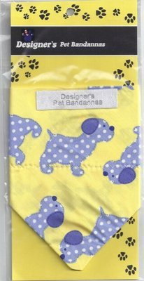 Yellow Blue Dog Bandanna