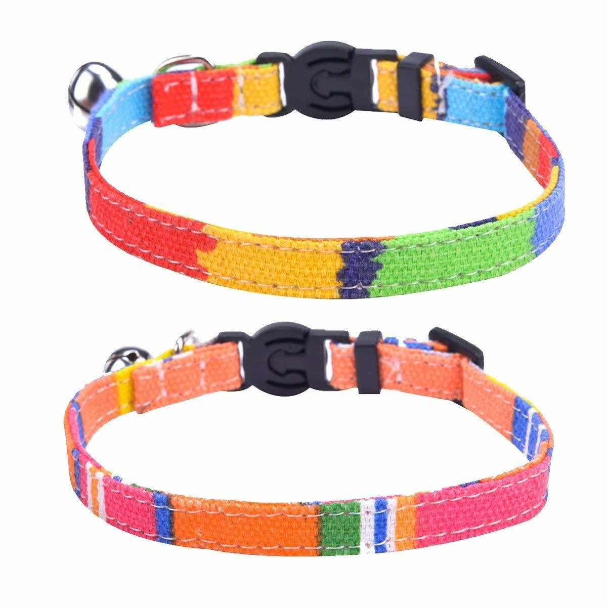 Cat Collars Funky Canvas