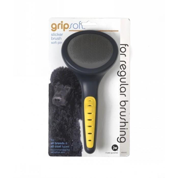 Gripsoft Slicker Brush Soft Pins for Dogs