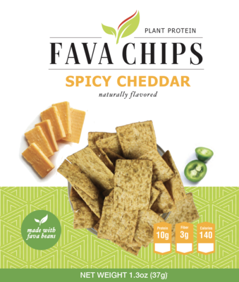 Fava Bean Spicy Cheddar Chips