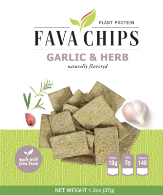 Fava Bean Garlic & Herb Chips