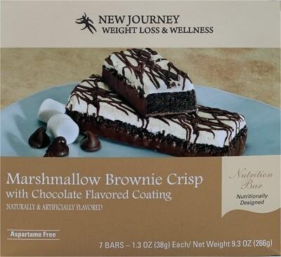 Marshmallow Brownie Crisp w/Chocolate Coating Bar