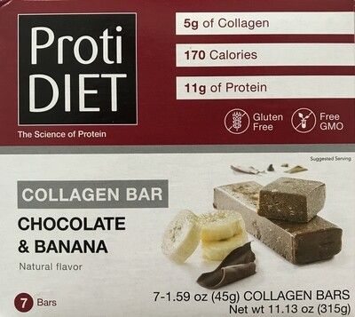 Chocolate & Banana Collagen Bar - Proti Diet