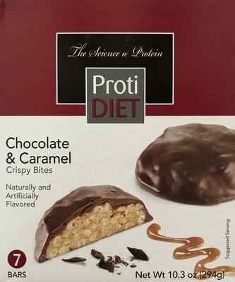 Chocolate & Caramel Crispy Bites - Proti Diet