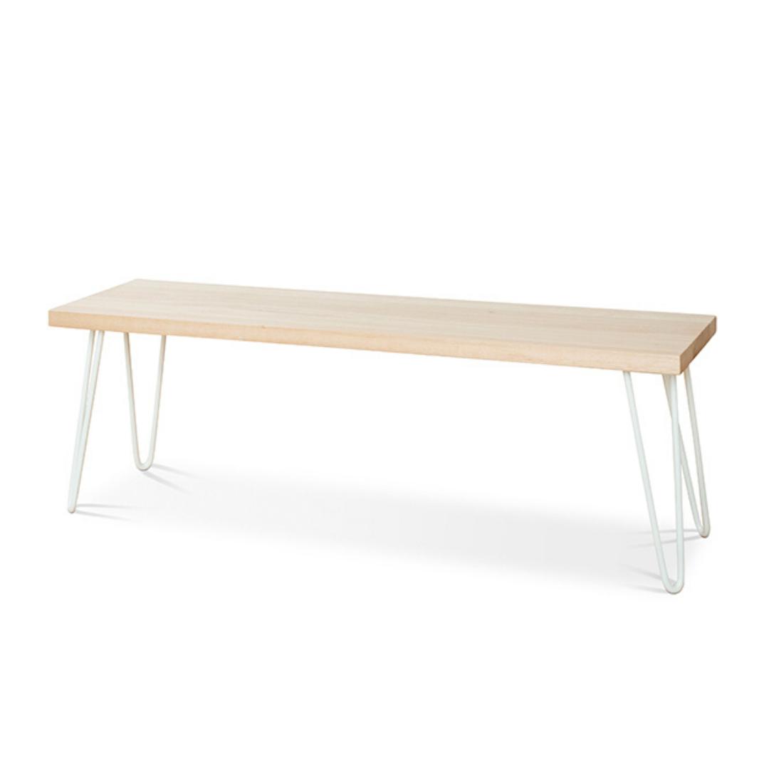 Molly Hall Bench / Seat | Tasmanian Oak - White Legs